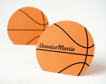 Autographed Basketball Place Cards Set of 24