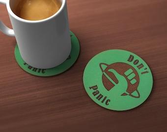 Don't Panic Geek Drink Coaster