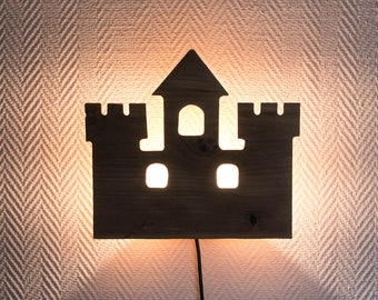 "French Wall light ""fortified castle"" Solid wood"