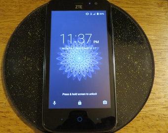"6"" EMF Cell Phone Harmonizer Shungite Meditation Chakra Clearing Plate"