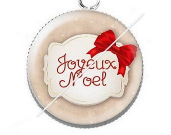 Pendant cabochon resin Merry Christmas happy holidays 10