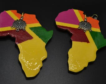 Map of Africa earrings- African Map
