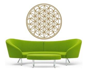 flower of life mandala vinyl Wall DECAL-seed Sacred geometry, sticker art, rainbow Holographic