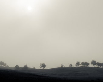 Foggy Hills - Fine Art Nature Photography Print