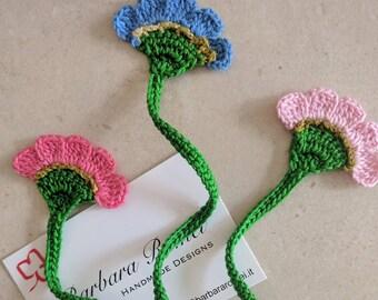 Bookmark Crochet Carnation Flower Carnation flower Crochet Bookmark