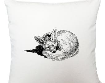 Cushions/ cushion cover/ scatter cushions/ throw cushions/ white cushion/ sleeping fox cushion cover