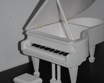 Grand piano - piano - wood piano - wooden piano - toy piano - miniature piano - dollhouse piano - handmade piano