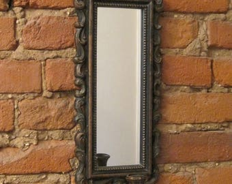 Vintage Syroco Wall Mount Mirror Candle Sconce
