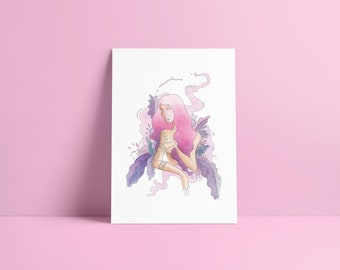 Woman in Forest - Fine Art Print ~ Lucile Farroni