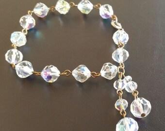 VintageBracelet AB Aurora Charm Starter Crystal Glass Bead Petite 207