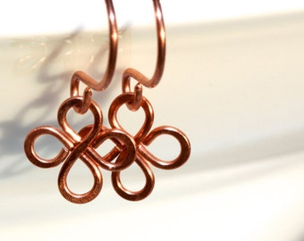 Clover Earrings * 4 Leaf Clover * Celtic Knot Earrings * Everyday Earrings * Knot * Celtic Knot * Minimalist Earrings..*Indefinite Troubles*