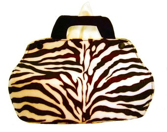 Cosmetic box case-zebra-handbag-fabric tissue boxes Cover