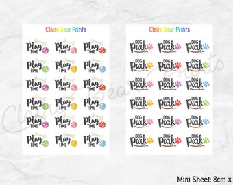 DOG Planner Stickers (10 options)
