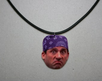 Prison Mike The Office Michael Scott Steve Carell Statement Necklace Television Jewelry