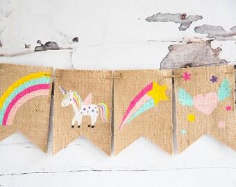 Unicorn Banner, Unicorn Party Decor, Unicorn Party Supplies, Unicorn Nursery Decor, B946