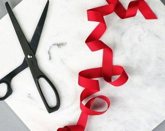 Ribbon Red Grossgrain - 5 Metres