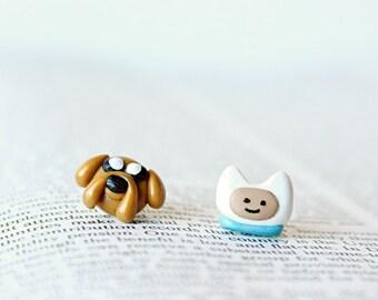 Finn & Jake Adventure Time Earrings