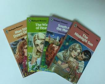 Harlequin Romance Novels Books Fiction Vintage Retro 1970s Mid Century