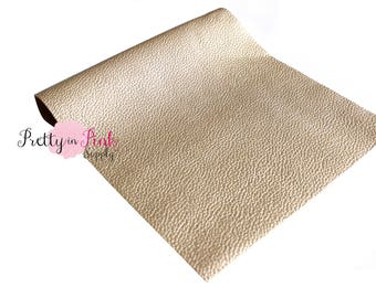 Light Gold Soft Faux Leather Fabric Sheet-Metallic Foil Fabric Sheet-A4 or A5 Leather Fabric Material-DIY Hair Bows 1mm Thick