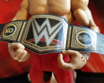 Kevin Owens WWE Heavyweight Championship belt for wrestling figures