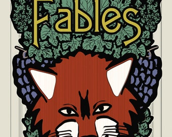 Literary Art Print. Fables - Literary Genre. Educational Classroom Poster