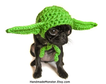 SMALL STAR WARS dog hat costume yoda inspired pet halloween geekery nerdy costumes jedi photo photography prop mashable