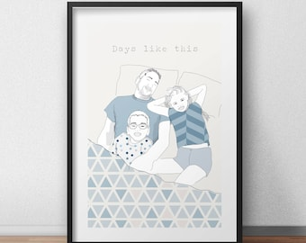 Days like this father and son fathers day gift custom art Personalized art poster