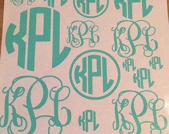 Full page of outdoor vinyl monograms