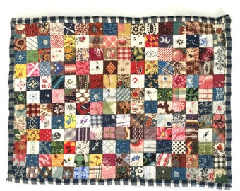 Antique Fabric Dollhouse Miniature Patchwork Quilt Made to Order