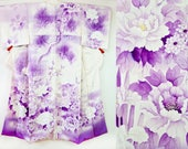 Flower garden purple whit...