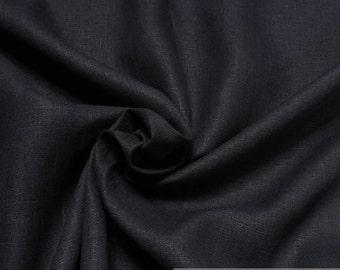 Fabric pure linen dark blue