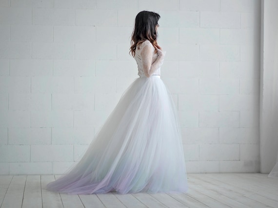 Aurora - northern lights ombre gown