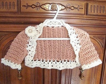 CROCHET shrug Pattern- num 78 make it any size age 2 to adult... and CUSTOM SIZE  Instant Download