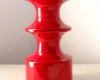 Kerzenhalter Cari Zalloni rot red Keramik 60'er Jahre
