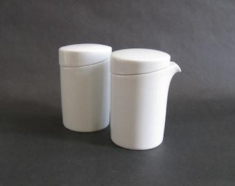 Mono Gemiini Porcelain Creamer + Sugar Bowl Set - Mikaela Dorfel - Mono, Germany - 1990s