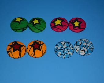 Extralarge Button Earrings