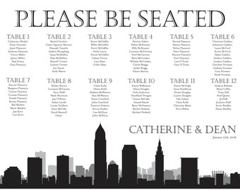 Cleveland Seating Chart Digital Design Printable PDF Custom Personal Poster Print File ONLY