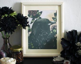 Black Raven Print