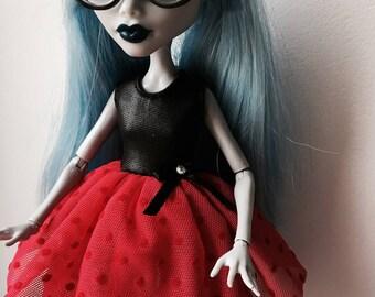 Black&Red  Dress for Monster High doll