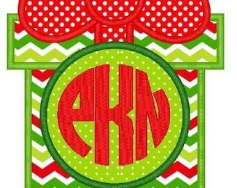 Gift Present Monogram Applique Design