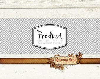 Soap packaging - Printable soap labels - 2.5 x 11 inch - Modern monochrome geometric print Soap label design
