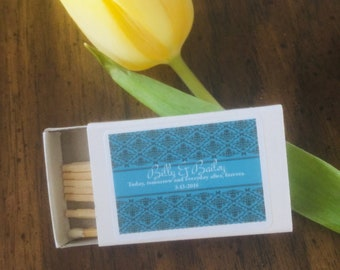 Custom Matches - Personalized Matchbook - You Pick - Matchbooks For Wedding - Wedding Favors - Wedding Matches - Matches - Self Design -