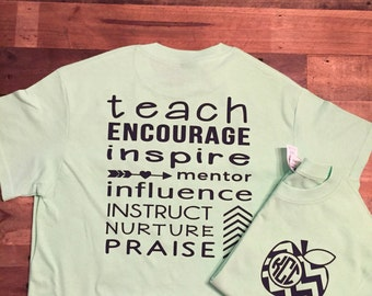 Apple Teacher Shirt - Teacher Shirt