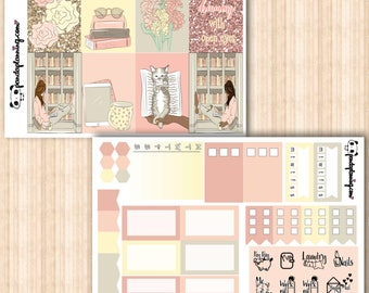 Bookworm, mini kit, base kit, Erin Condren, Happy Planner, sticker kit, Weekly Planner Sticker Kit, Premium Matte, Glossy, christmas