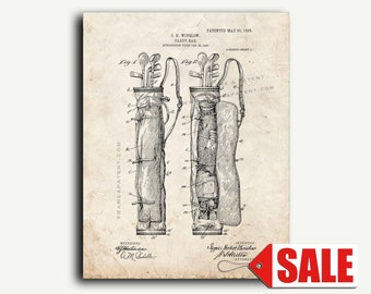 Patent Print - Golf Caddy-bag Patent Wall Art Poster Print
