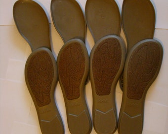 slippers - shoes  rubber soles for hand made products