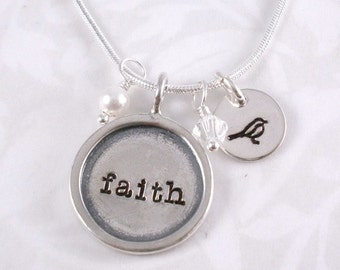 Hand Stamped Faith Necklace
