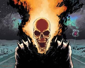 Ghost Rider, Spirit of Vengeance, Marvel Superheroes Comic Book Art, Marvel Knights, Digital Download