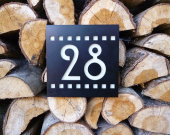 Decorative Mackintosh House Number Plaque