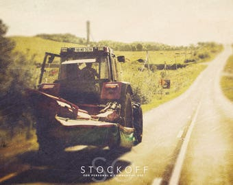 Royalty Free Stock Images, Irish Farm Photography, Tractor Print, Irish Art, For Personal & Commercial Use
